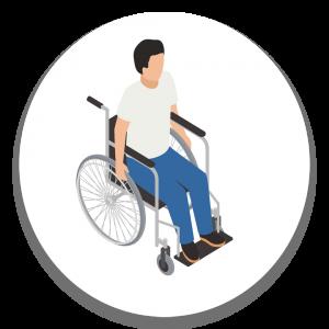 איש בכסא גלגלים